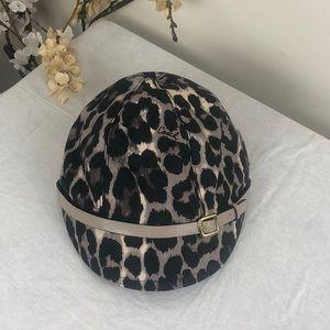 Coach Canvas Leather Buckle Newsboy Hat